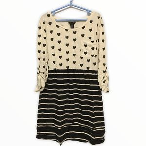 Forever 21 Girls Hearts and Stripes Dress